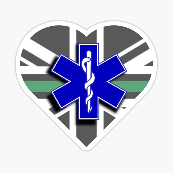 The Thin Green Line & Star of Life Sticker