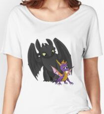 Spyro and Toothless Women's Relaxed Fit T-Shirt