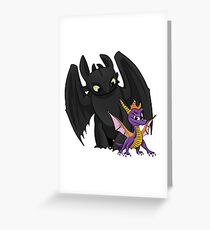 Spyro and Toothless Greeting Card