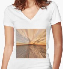 Fantasy Sunset 9 Women's Fitted V-Neck T-Shirt