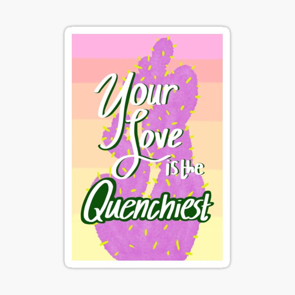 Avatar the Last Airbender Cactus Juice Love Note Sticker