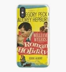 Roman Holiday Vintage Poster iPhone Case/Skin
