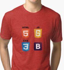 HTML - CSS - JS - Bootstrap Tri-blend T-Shirt