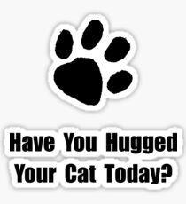 Hugged Cat Sticker