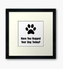 Hugged Dog Framed Print