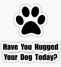 Hugged Dog Sticker
