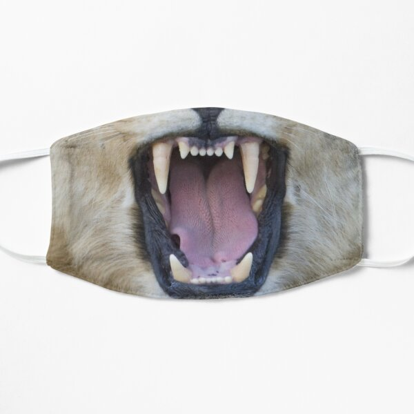 The Lions Mouth Opens Flat Mask