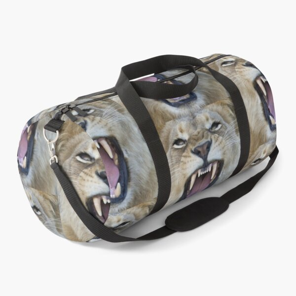 The Lions Mouth Opens Duffle Bag