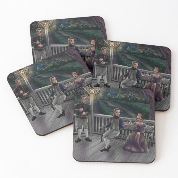 Seamus Fitzwilliam and Grace Baxter meet Coasters (Set of 4)