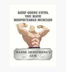 Major Alex Armstrongs GYM Kunstdruck