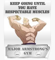 Major Alex Armstrong's GYM Poster