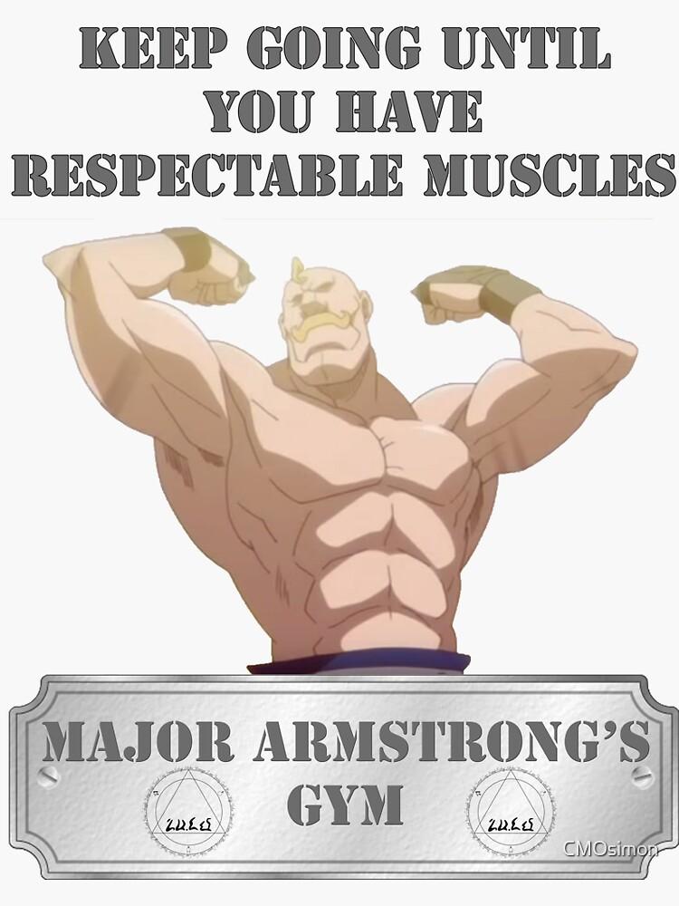 major alex armstrong s sticker by cmosimon redbubble