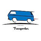 VW Bus Blue Vanagon Caravelle Transporter T3 by Frank Schuster