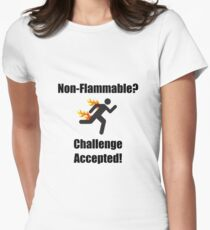 Non Flammable Womens Fitted T-Shirt
