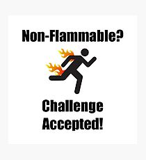 Non Flammable Photographic Print