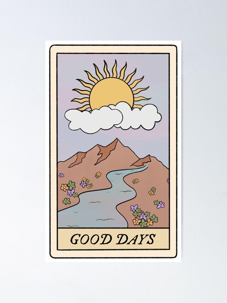 Alternate view of good days sza tarot card  Poster