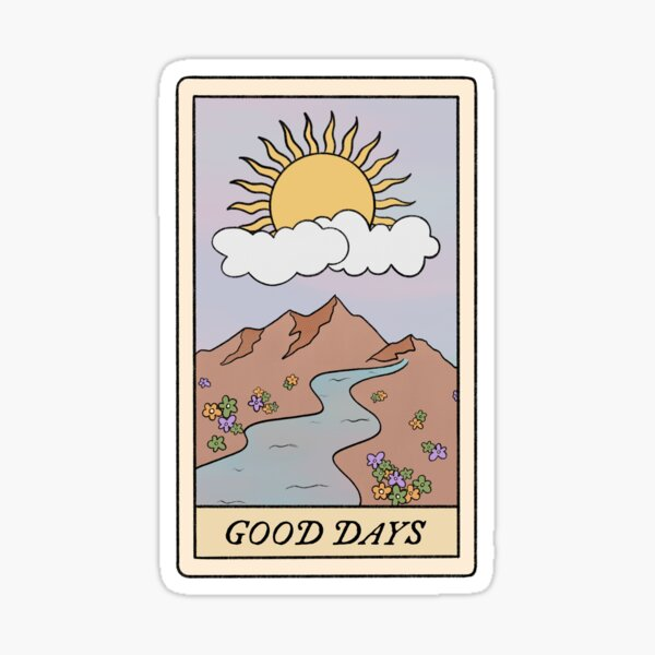 good days sza tarot card  Sticker