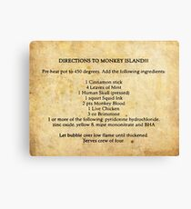 Directions to monkey island Canvas Print