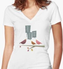 Three little birds Women's Fitted V-Neck T-Shirt