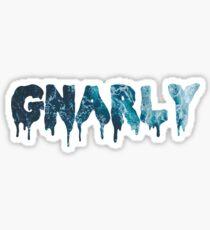 GNARLY OCEAN FILL Sticker
