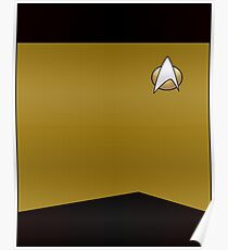 Star Trek TNG Uniform (Gold) Poster