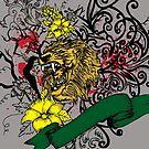 Roaring Lion Among Tangled Brambles by pjwuebker
