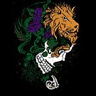 Lion and Skull Abstract by pjwuebker