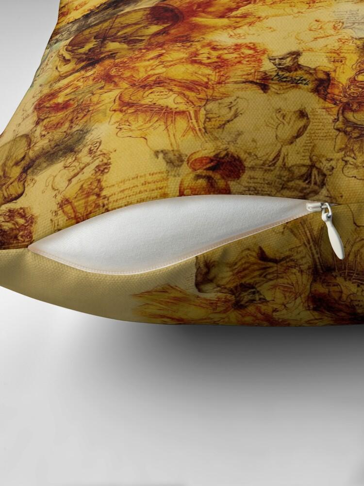 Alternate view of Leonardo da Vinci Throw Pillow