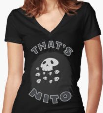 That's Nito (colored text!) Women's Fitted V-Neck T-Shirt