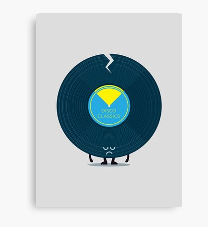Character Building - Last Night a DJ Wrecked my Life Canvas Print
