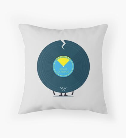 Character Building - Last Night a DJ Wrecked my Life Throw Pillow