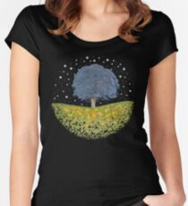 Starry Night Sky Women's Fitted Scoop T-Shirt