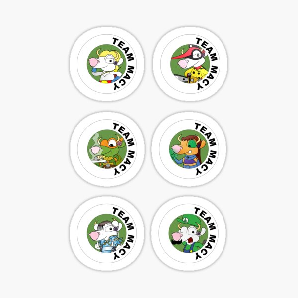 Team Macy - 6 Stickers Sticker