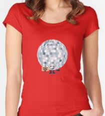 Camiseta entallada de cuello redondo Edificio de personajes - ¿No me llevarás a, Funky Town