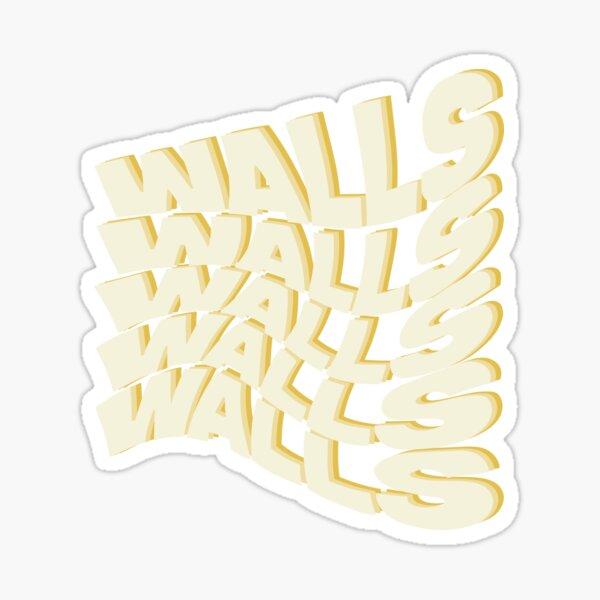 paredes onduladas louis tomlinson con sombra amarilla Pegatina