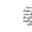 I am not my disasters. I am the comma; the after; the anything and everything I make of them. by Franchesca Cox