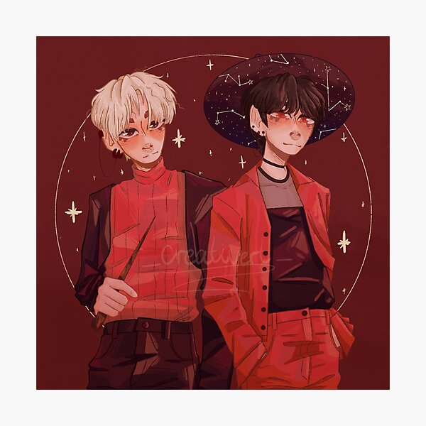 Taehyun and Beomgyu as Witches Photographic Print