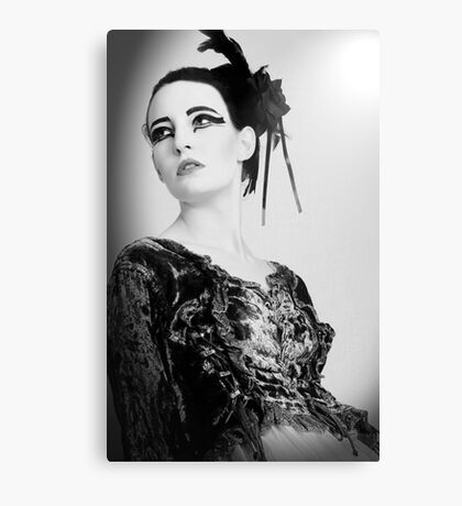 black and white swan Canvas Print