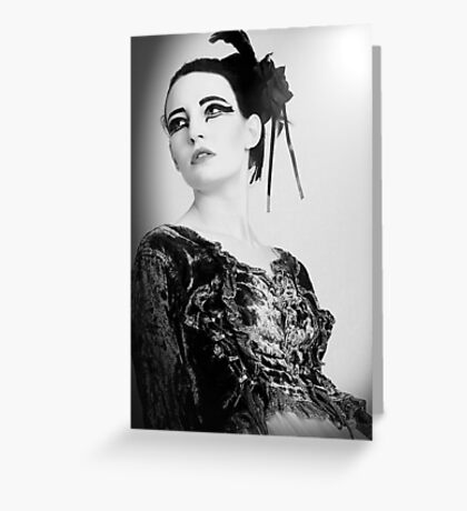 black and white swan Greeting Card