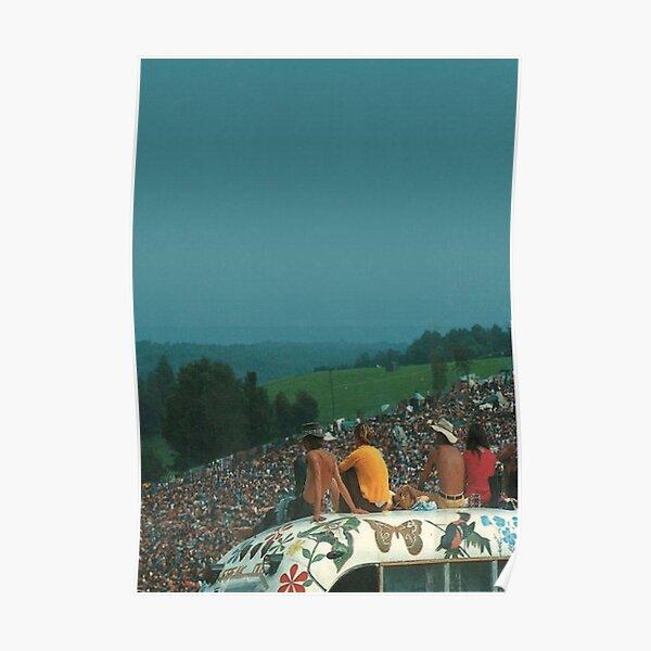 foule de Woodstock - Poster