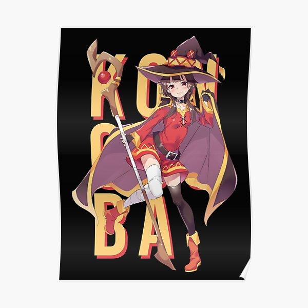 Ami0707 Poster Drucke KonoSuba MEGUMIN Nettes M/ädchen Japan Anime Geschenk Tinte Leinwand /Ölgem/älde Kunst Wandbilder F/ür Wohnzimmer Wohnkultur50x70 cm Kein Rahmen