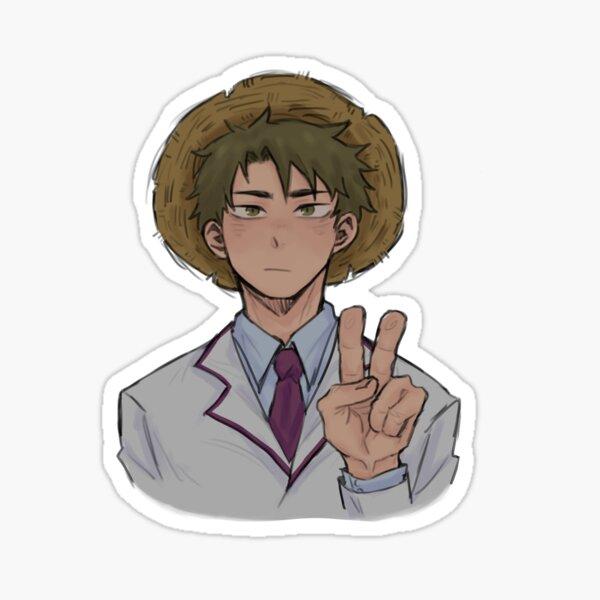 Wakatoshi Ushijima Straw Hat Sticker