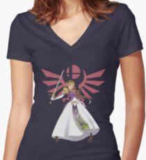 Smash Bros - Zelda Women's Fitted V-Neck T-Shirt