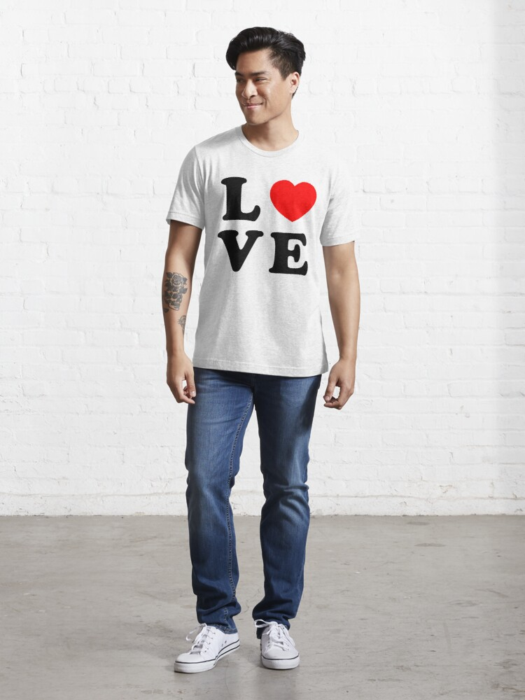 Alternate view of LOVE love love love love love love love Valentines day Valentine day (black) Essential T-Shirt
