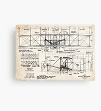 1903 Wright Flyer Airplane Invention Patent Art Metal Print