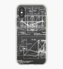 1903 Wright Flyer Airplane Invention Patent Art, Blackboard iPhone Case
