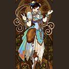 Strongest Woman in the World  (Art Nouveau China) by Razvan-Sedekiah