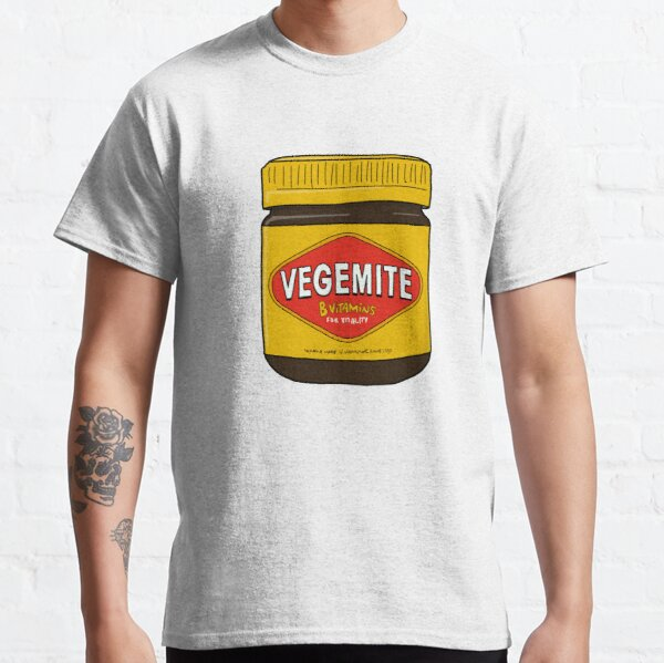 Vegemite Jar Doodle Cartoon Australia Classic T-Shirt