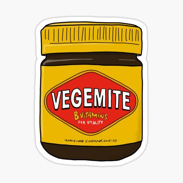 Vegemite Jar Doodle Cartoon Australia Sticker