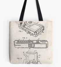 1993 Nintendo Gameboy Video Game Invention Patent Art Tote Bag